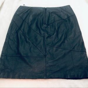 metrostyle Skirts - Metrostyle Leather Black A Line Skirt Size 18